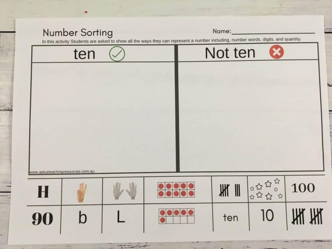 number sort think boards