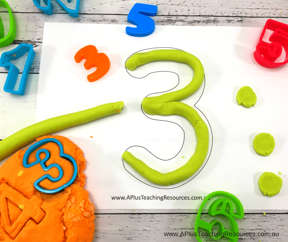 free number playdough mats