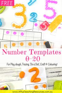 75 FREE Number printables 0-20