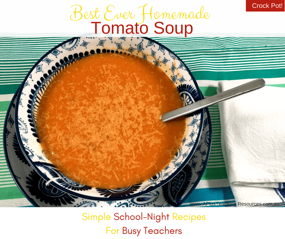 serve tomato soup with shaved parmesan