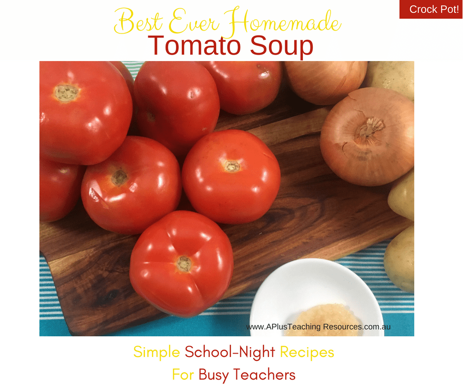 Homemade Tomato Soup ingredients
