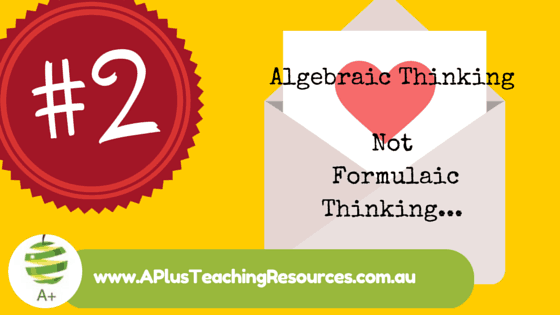 Tip 2 For Teaching Algebra in Primary School