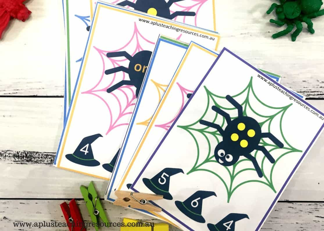 Spider Clip cards for 1-6
