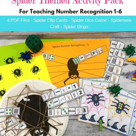 Spider Number Recognition Printables