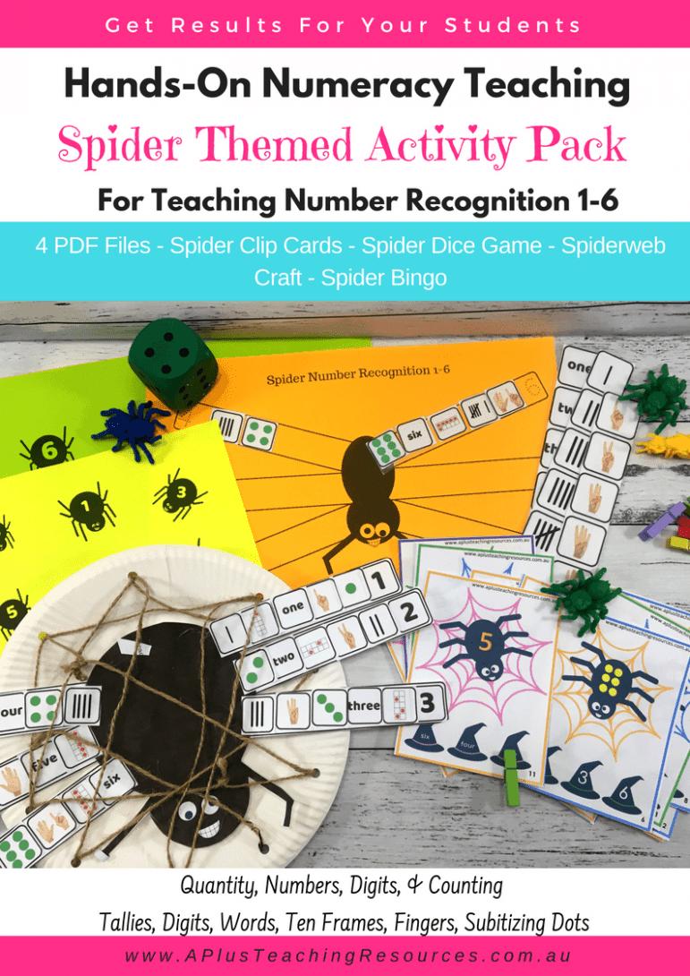 Spider Number Recognition Printables