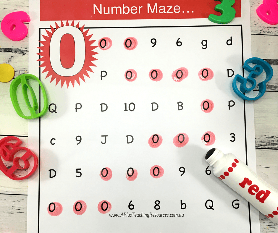 Number Mazes Pack 0-20