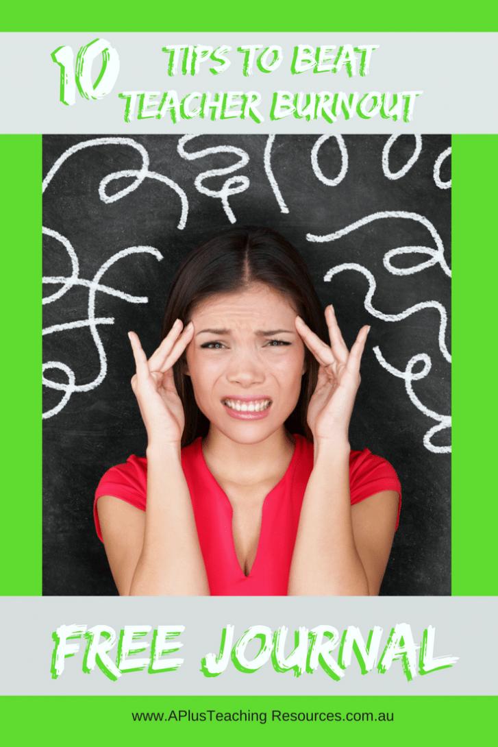 Burnout Beating Teacher Journal