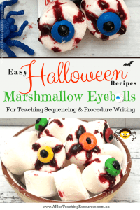 Easy Halloween Recipes Marshmallow Eyeballs