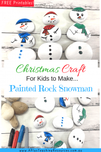 Christmas Craft For Kids To Make Painted Rock Snowman