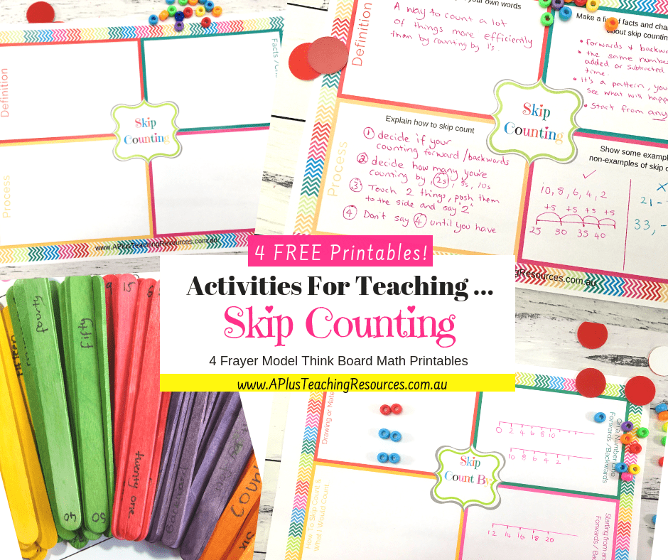 Free Skip Counting Think Boards for teaching skip counting