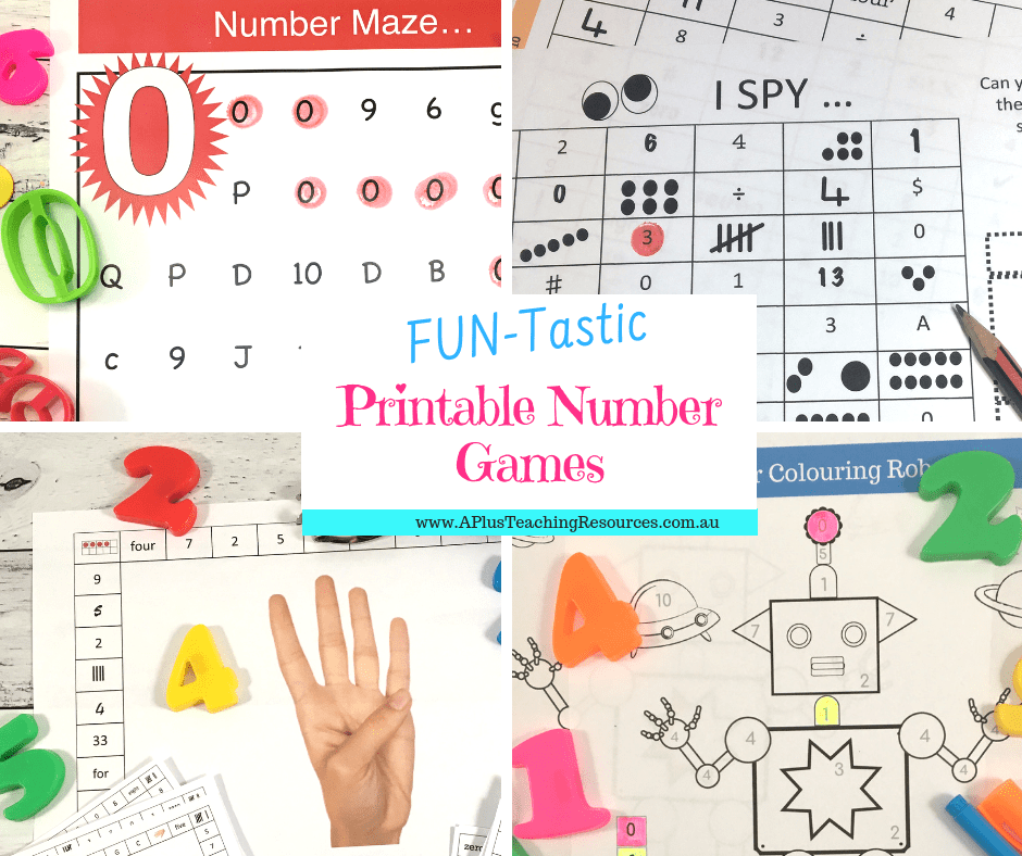 Printable Number Games
