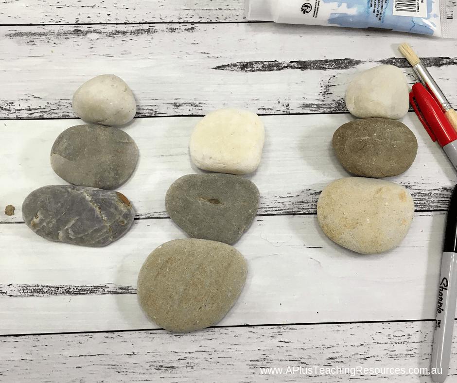 Size your rock snowman