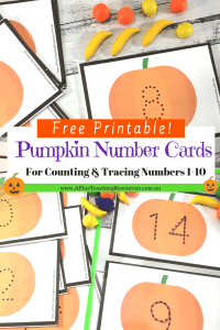 FREE Fall Pumpkin Number Cards