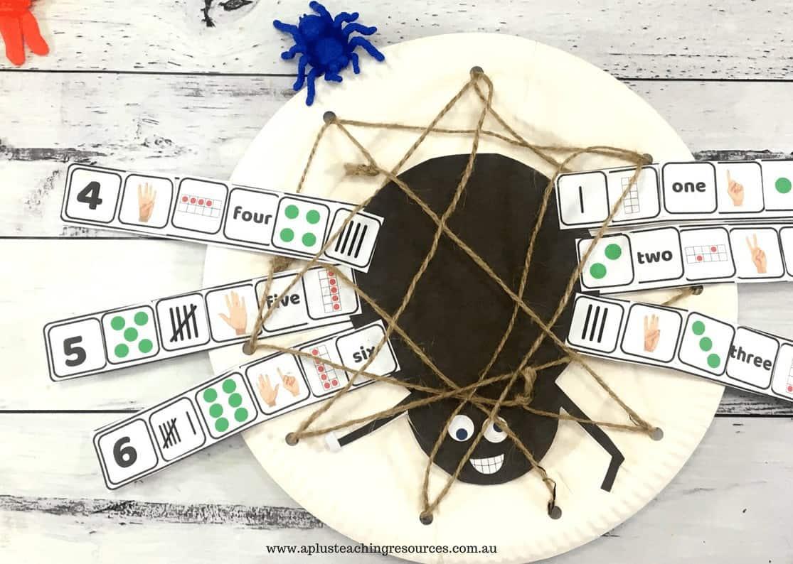 spider number recognition craft