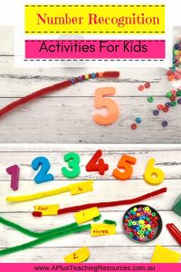 Preschool Number Recognition activities