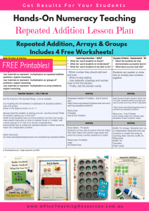 Repeated Addition Free Lesson Plan