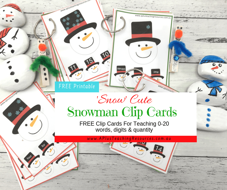 Snowman Clip Card Printable Number Games For Math