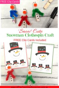 Clothespin Snowman