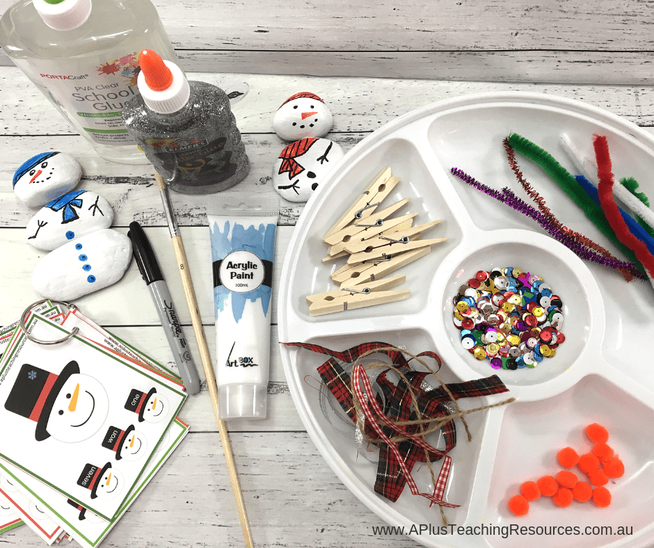 Clothespin Snowman Craft Equipment