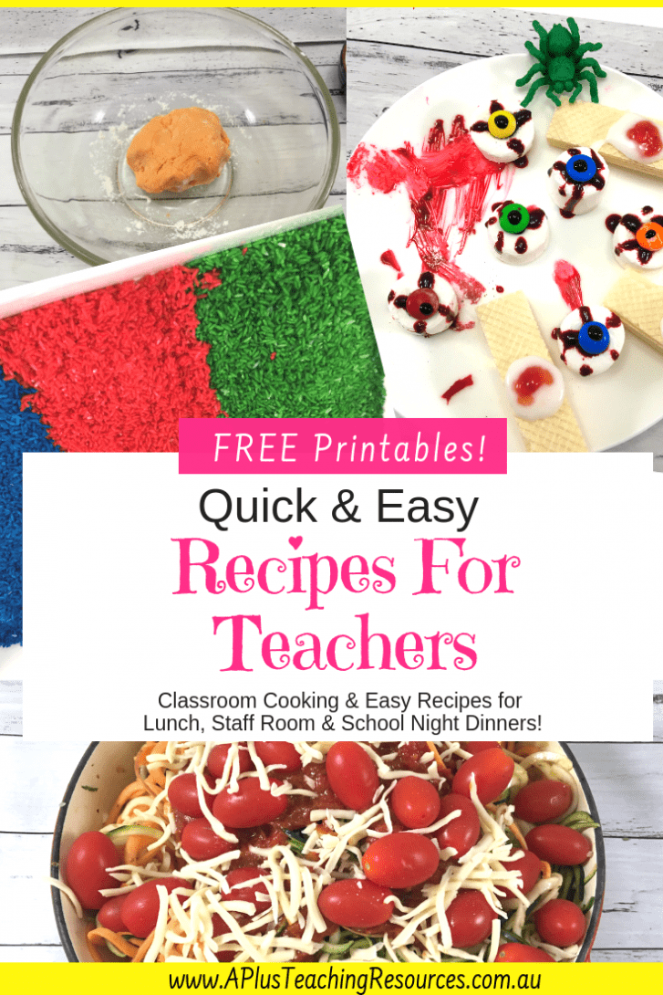 Recipes For Teachers & classrooms