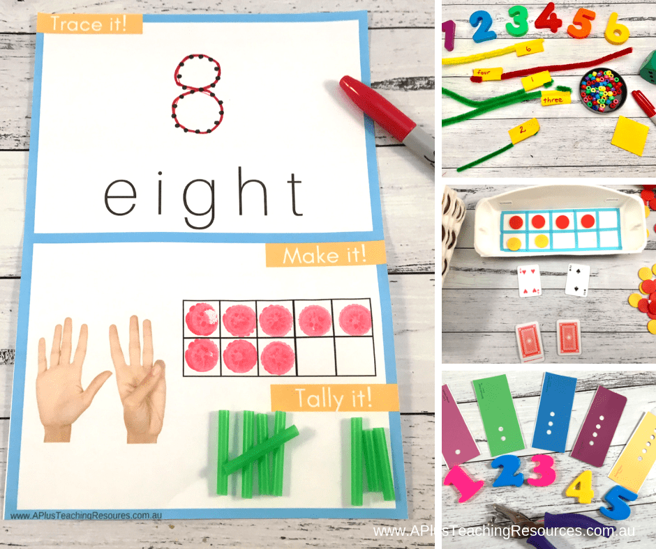 Activities for number recognition