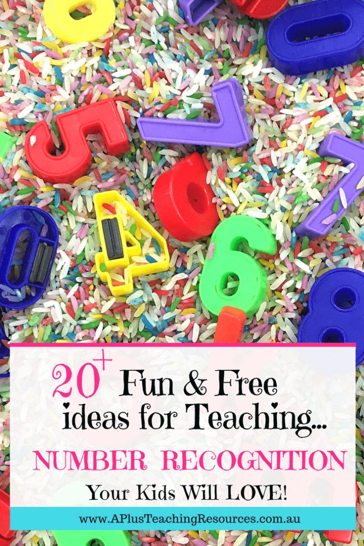 20 fun and free activities for teaching number recognition