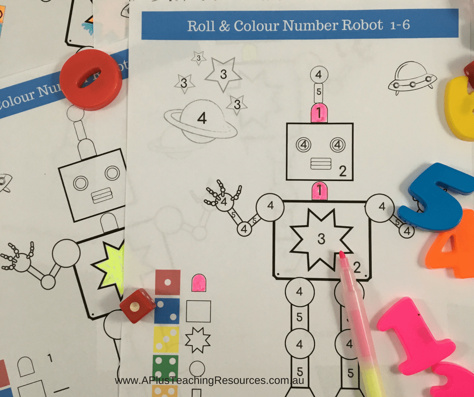 Robot Colouring FREEBIE