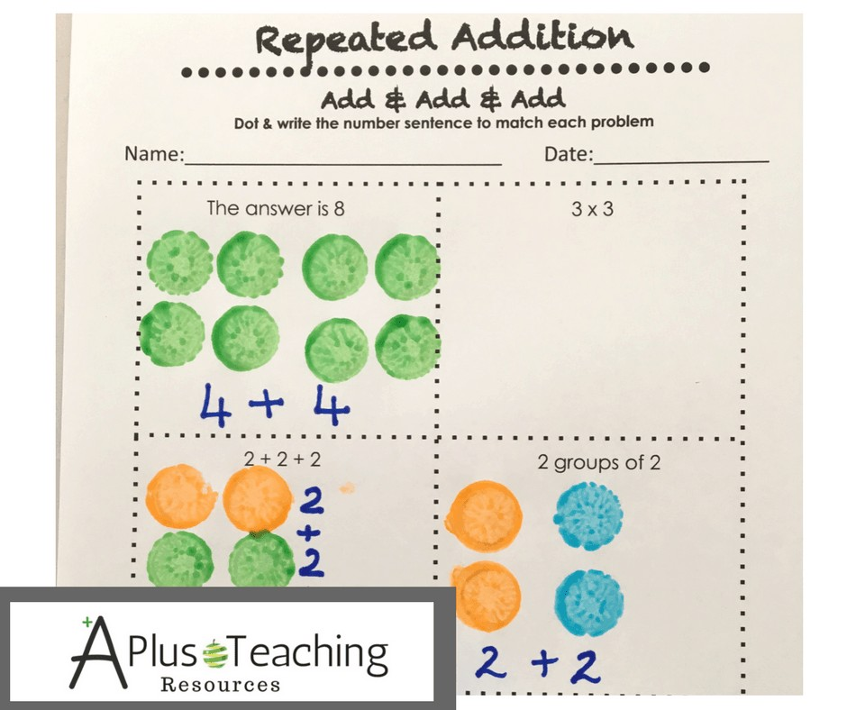 Repeated Addition Free Printable