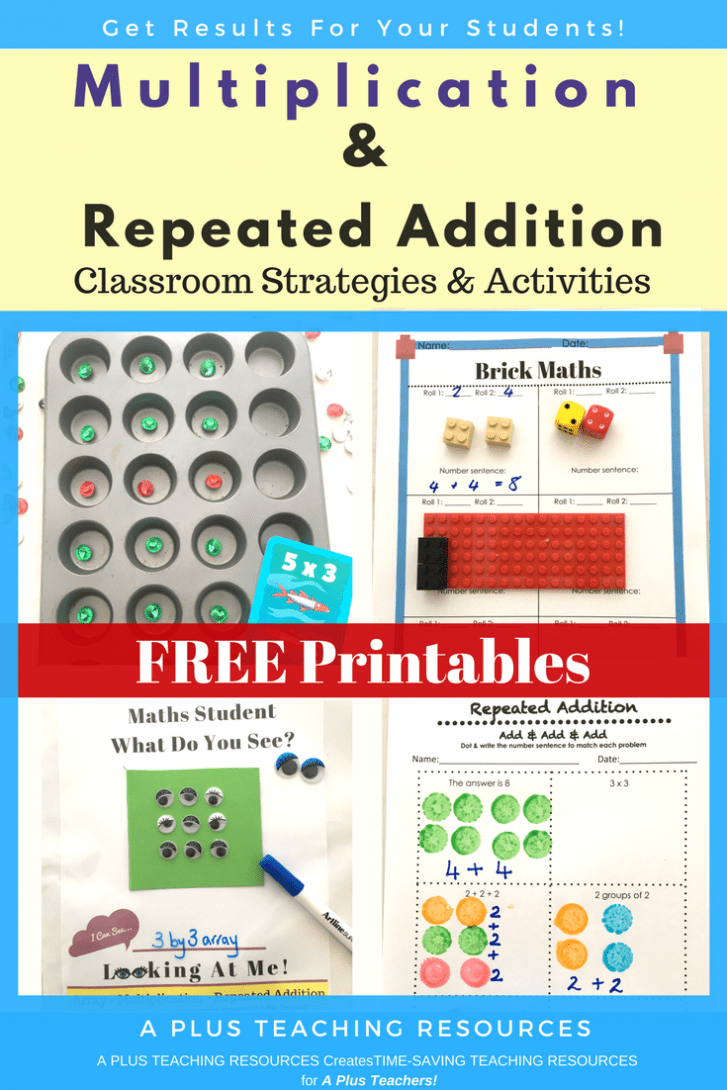 Repeated Addition Free Printables