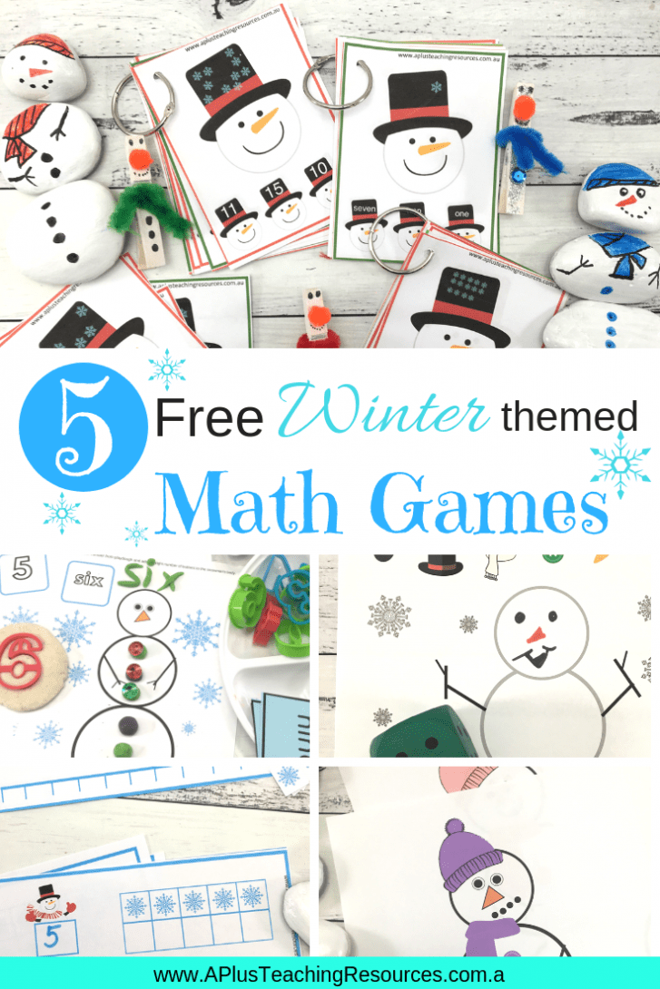 5 free winter themed math games for kids