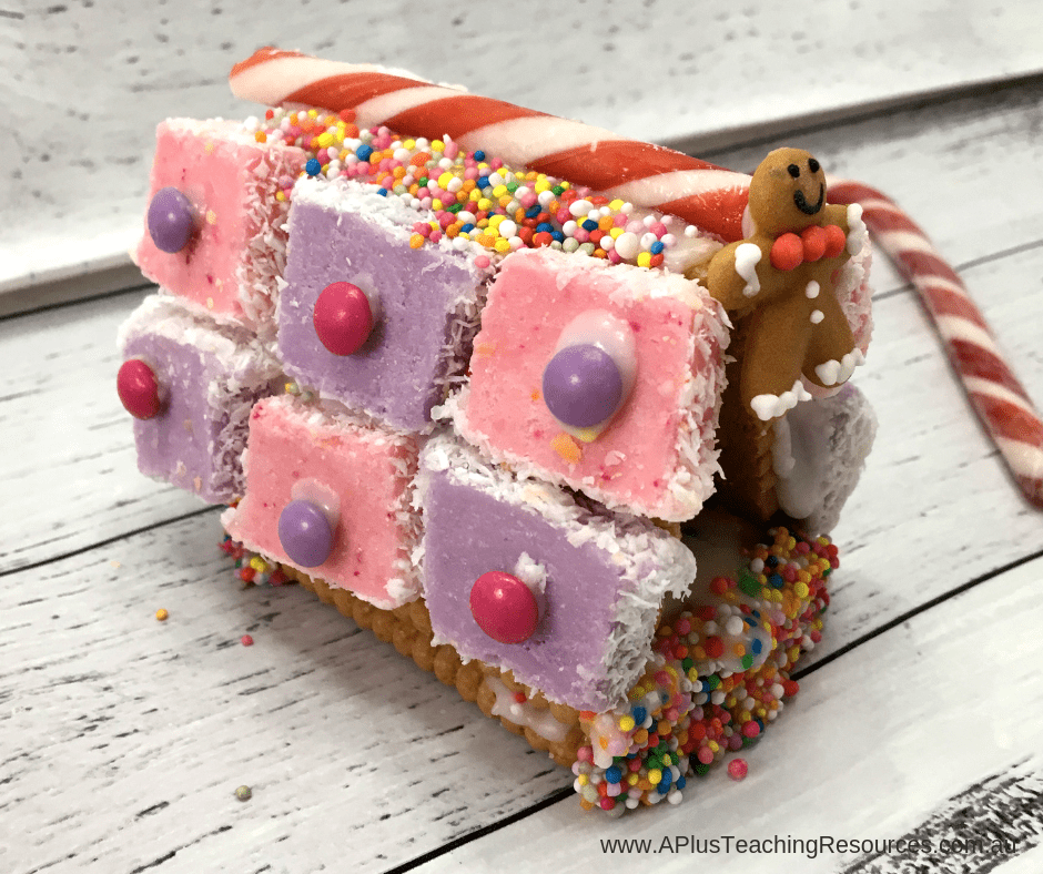 decorate gingerbread house with candy canes