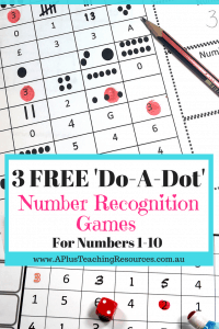 do a dot number recognition games for FREE
