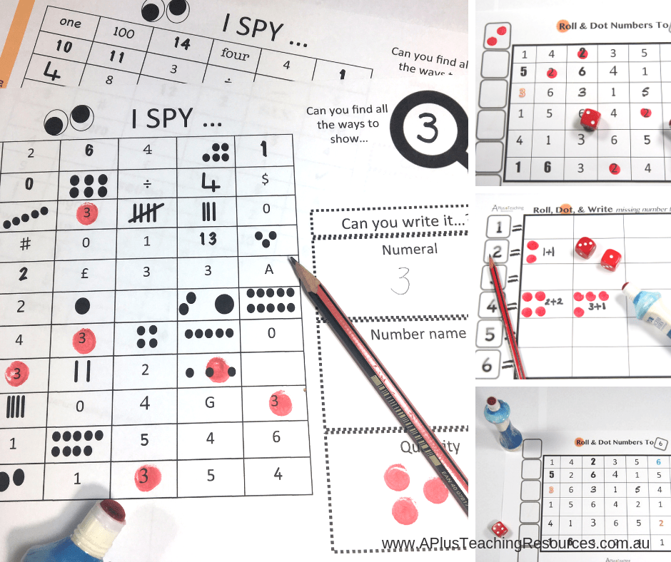 FREE roll and dot the number printable