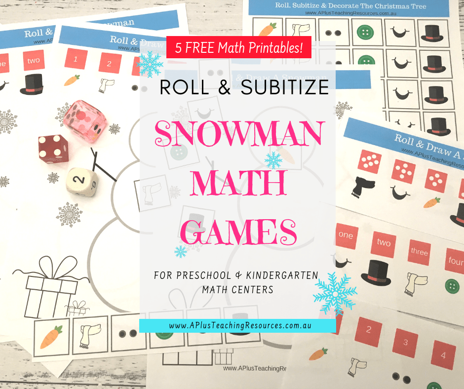 Snowman math game Freebie