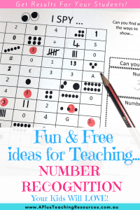 Number recognition dab & dot activities