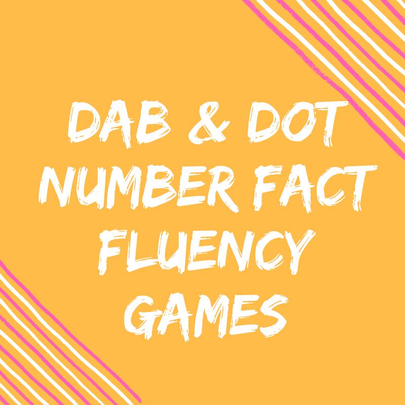 Do-A-Dot Fact Fluency Dice Activities {FREEBIES}