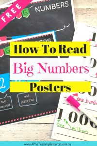 Saying Big Numbers Posters