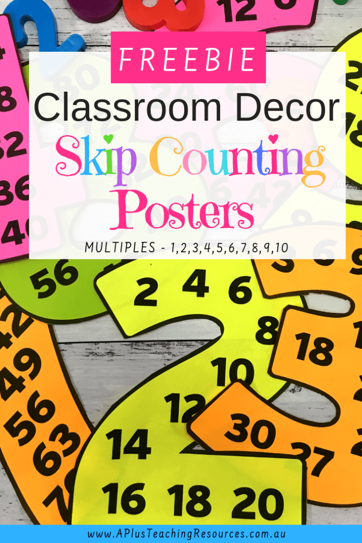 skip counting classroom posters