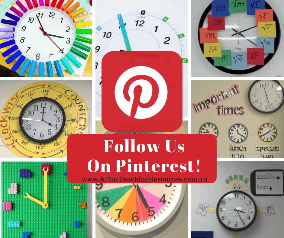 Classroom Clock Ideas on Pinterest