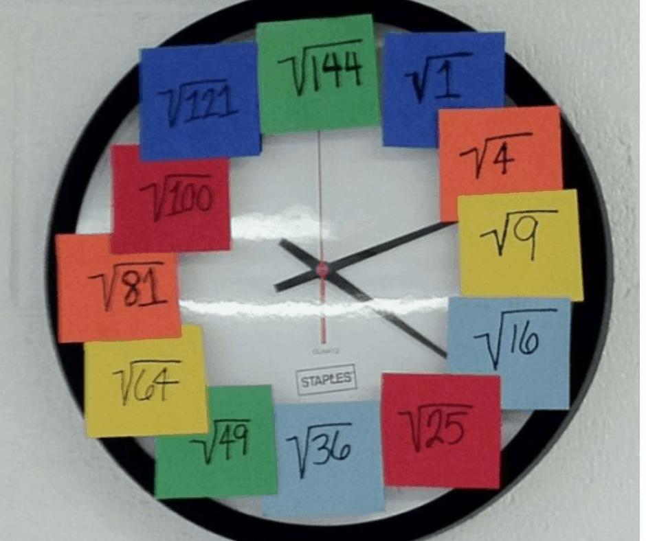 DIY Square Root Clock