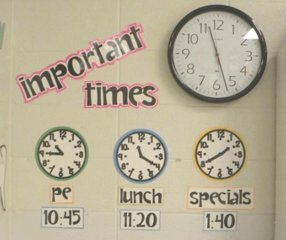 Classroom Clock Decor Ideas