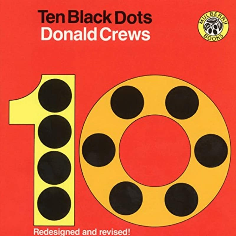 10 Black Dots Counting Book For kids
