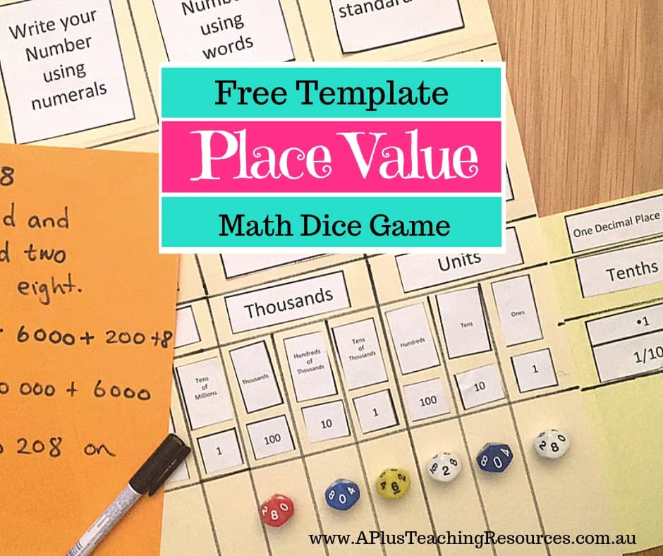 Place Value Folder FREEBIE
