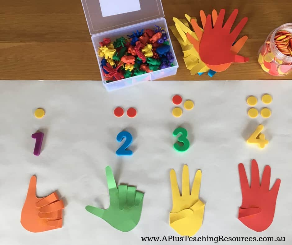 Counting Hands Number recognition activity