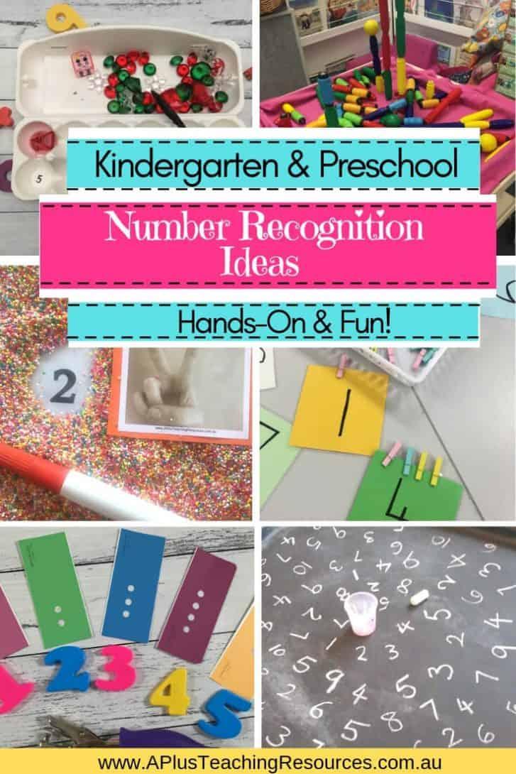 Kindergarten Number Recognition Activities Hands On Ideas