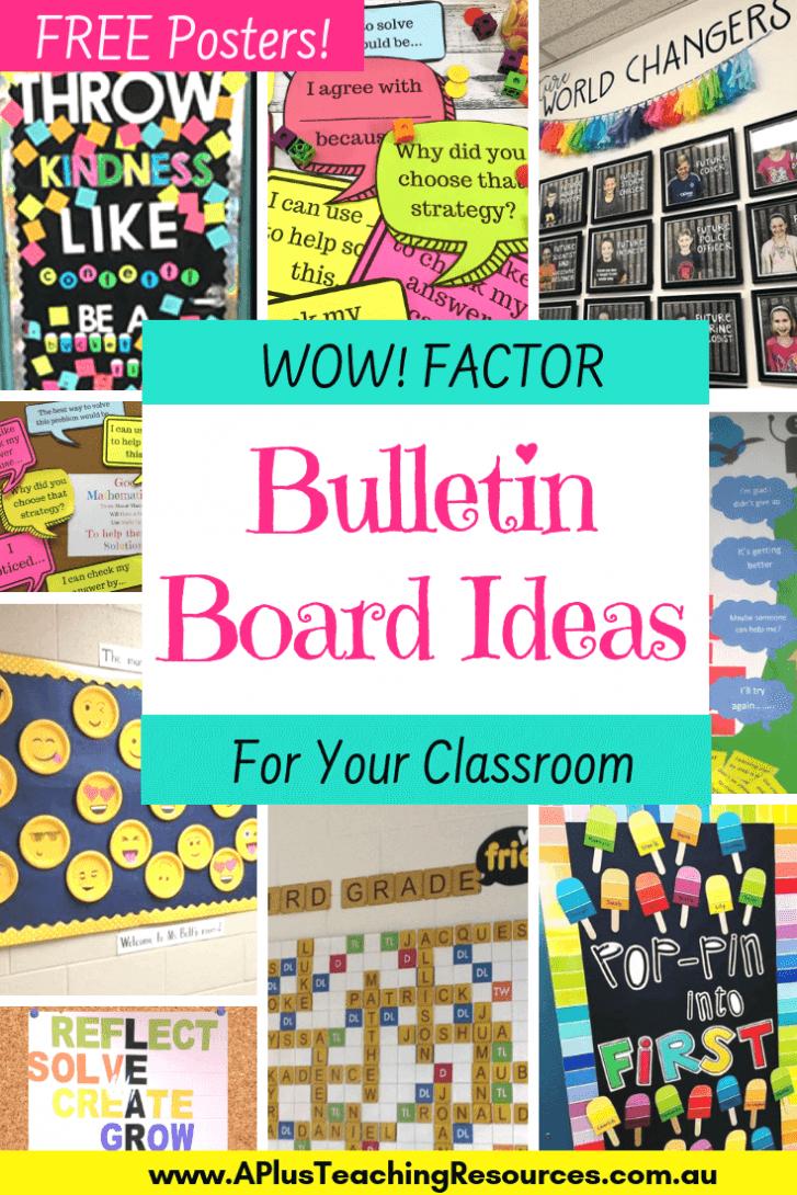 WOW Factor Bulletin Board ideas