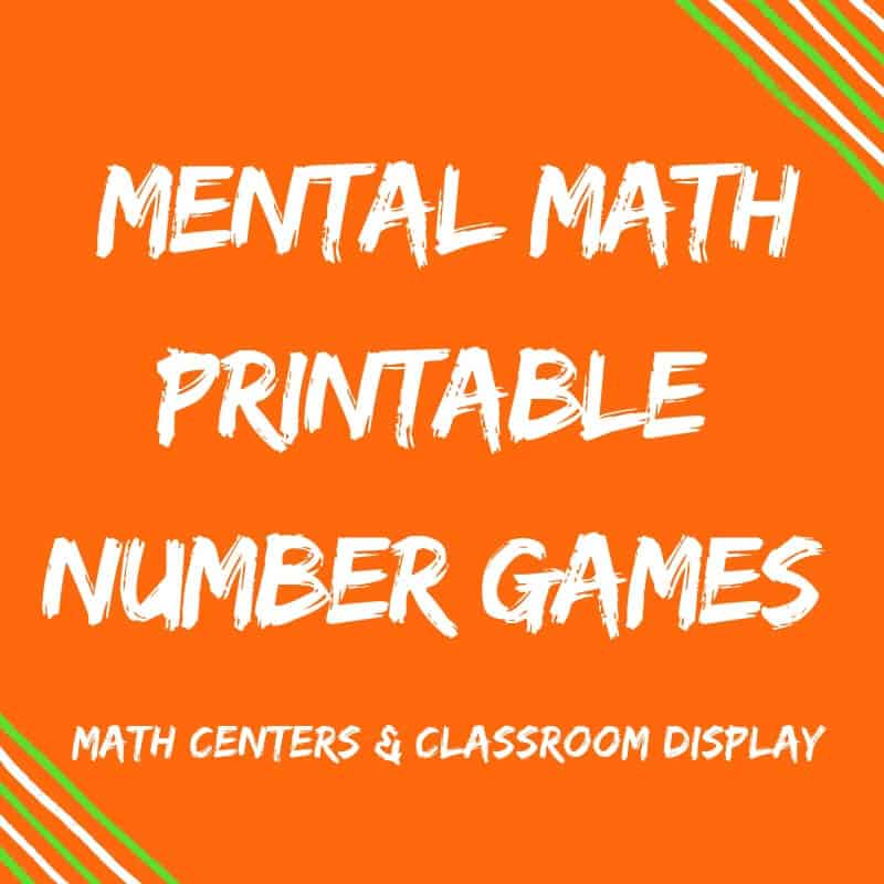Fun Mental Maths Printable Number Games {For Number Sense!}