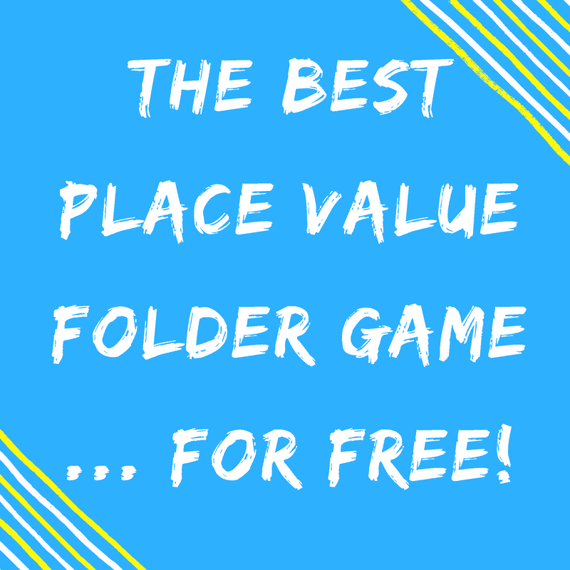 The Best Place Value Folder Game Printable {For FREE!}