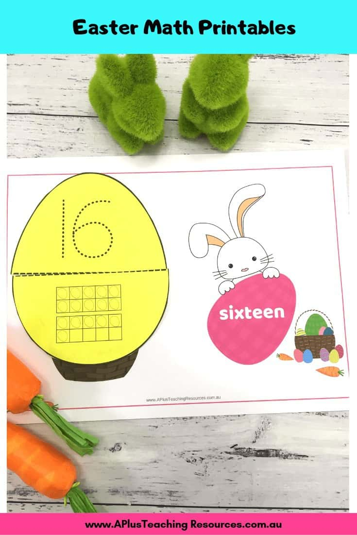Easter Counting Playdough Mats & Math Printables Images