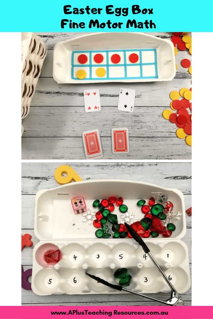 Easter Egg Box Math Activities image